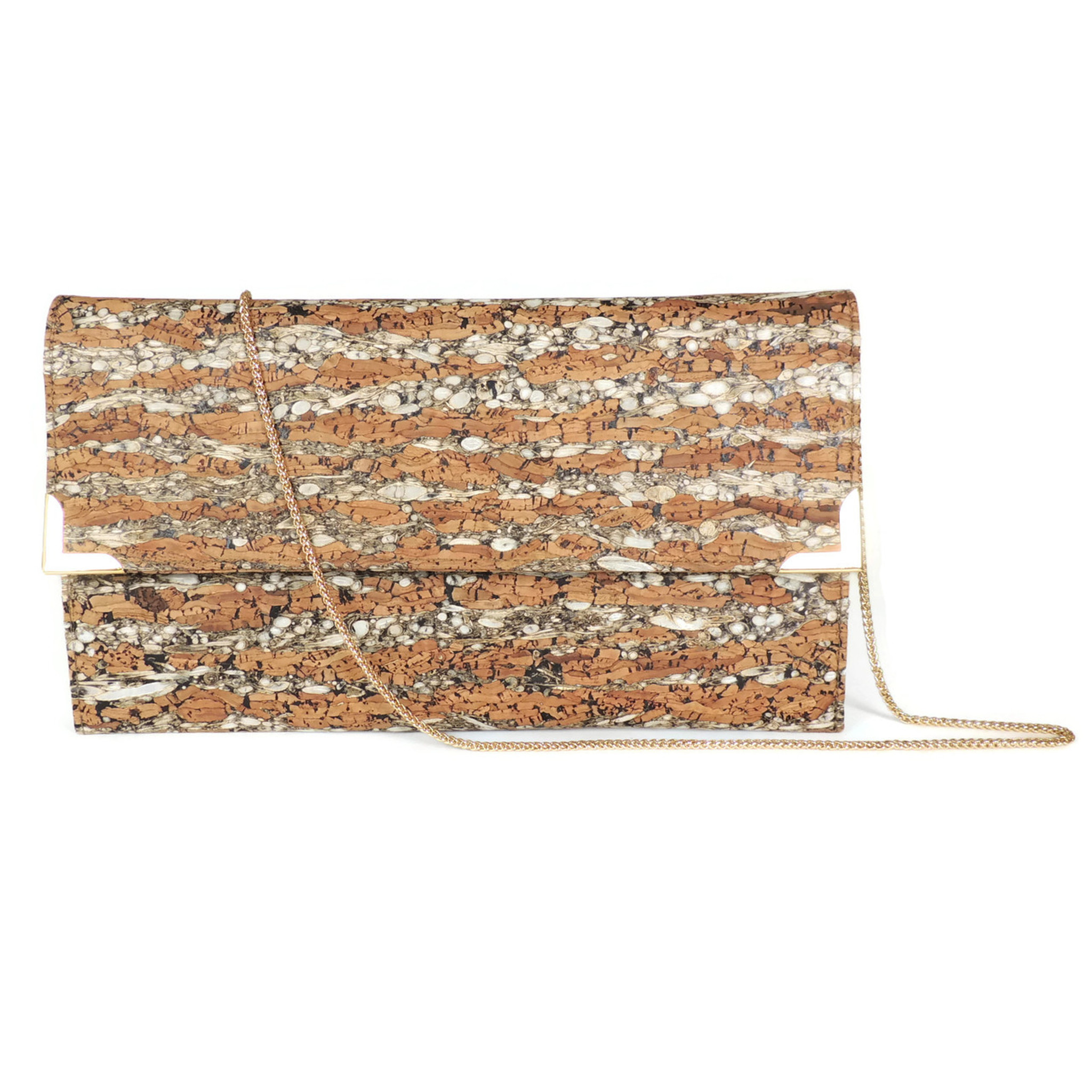 Folio Clutch in Fennel Cork