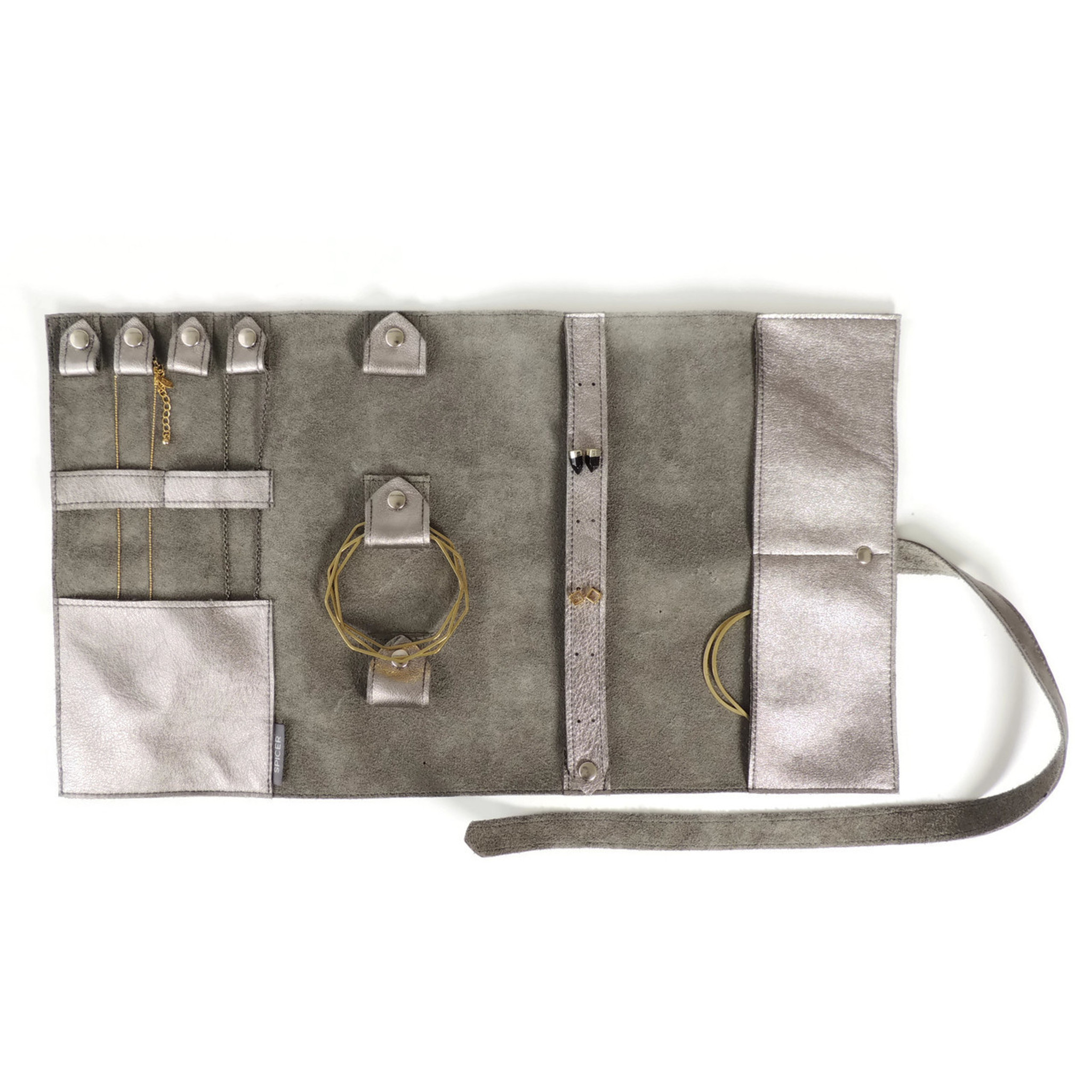 Jewelry Roll in Pewter