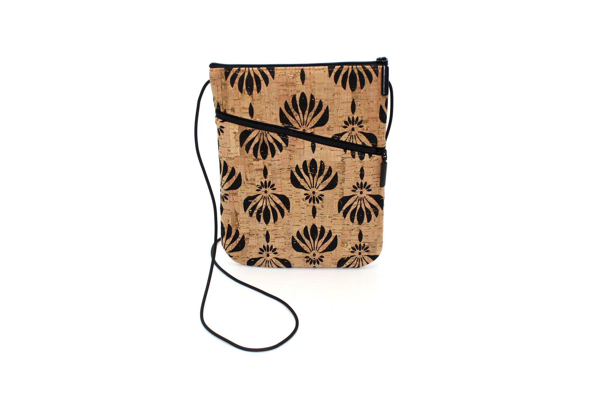 Social Bag in Black Lotus - Our Own Print !