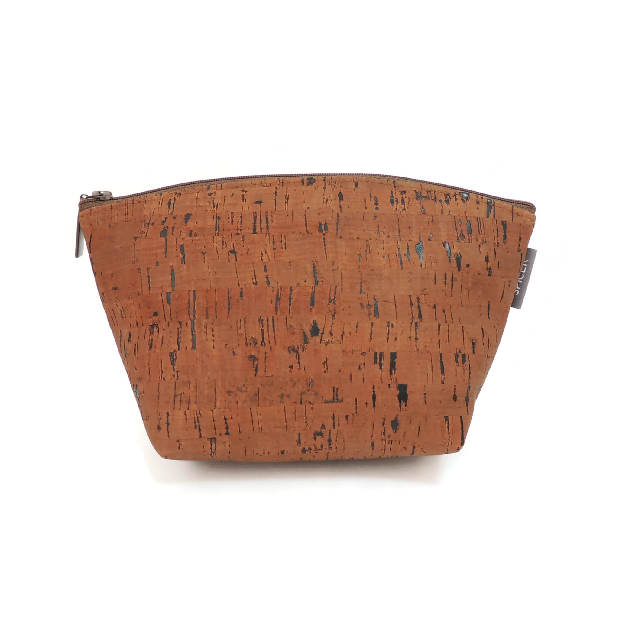 Large Standing Pouch in Cork Dash Brown
