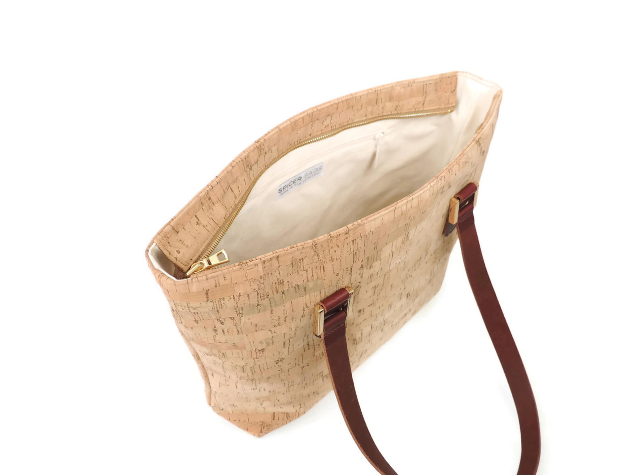 Boot Tote in Cork Dash Gold