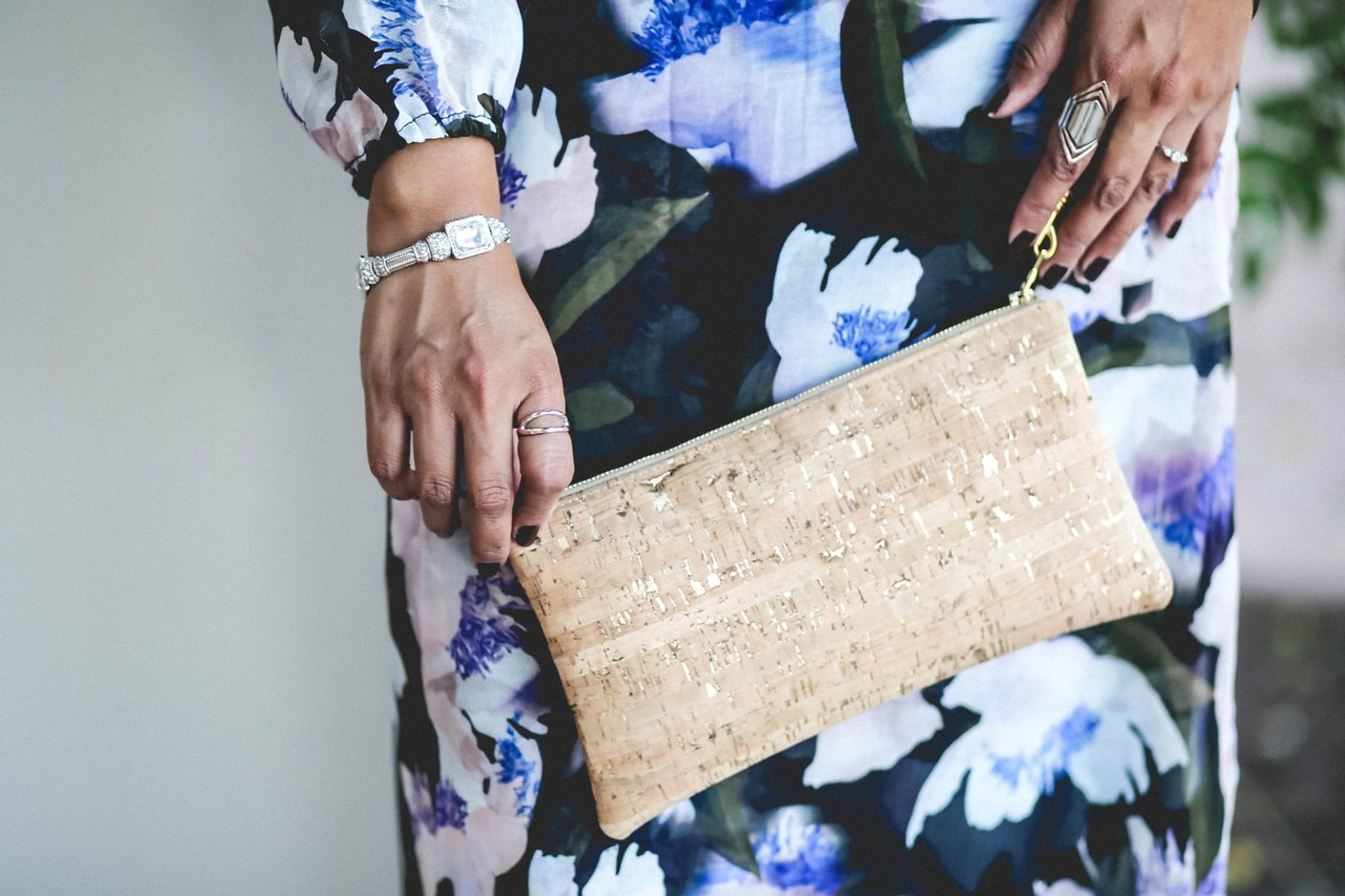 Wristlet in Mosaic Cork