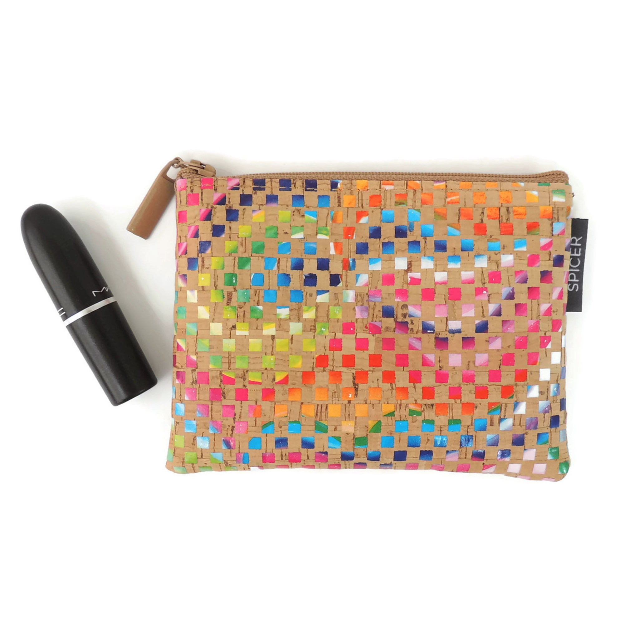Mini Pouch in Mosaic Cork