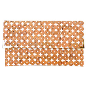 Folio Clutch in Cork Dots