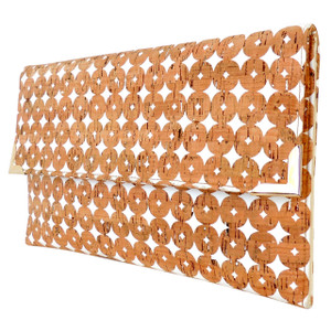 Cork Folio Clutch in Cork Dots