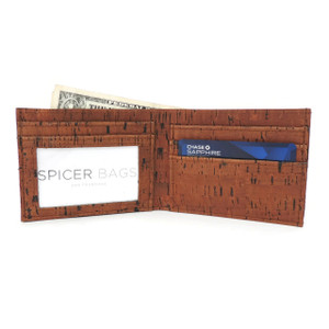 Bifold Wallet in Cork Dash Brown