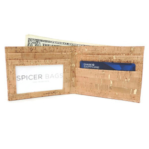 Bifold Wallet in Cork Dash Gold