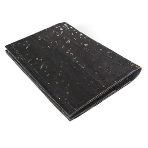 ID Wallet in Black and Gold Cork