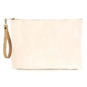 Carryall Clutch in White Cork