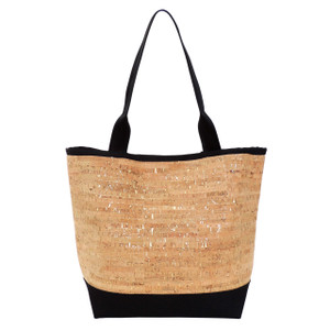 Signature Tote in Cork Dash Gold