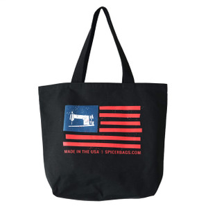 Made in the USA Grocery Tote in Black