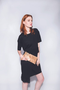 Wristlet in Black Cork