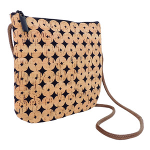 Sidekick in Navy Dot Cork