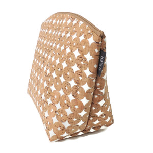 Extra Large Standing Pouch in Cork Dots