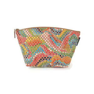Large Standing Pouch in Mosaic Cork