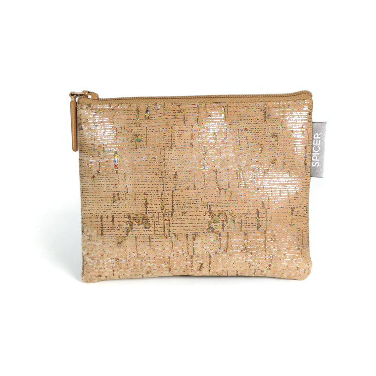 Mini Pouch in Metallic Multi Cork