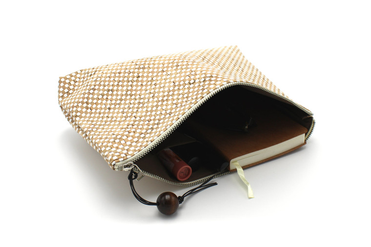 Carryall  in White Check Cork