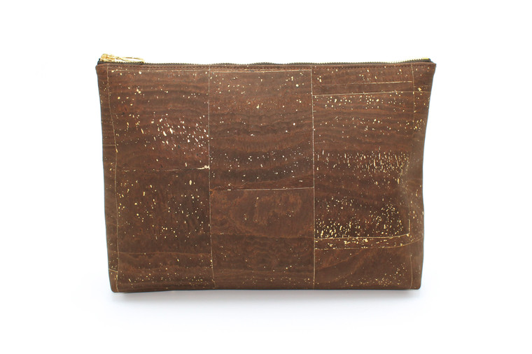 Carryall  in Brown and Gold Cork