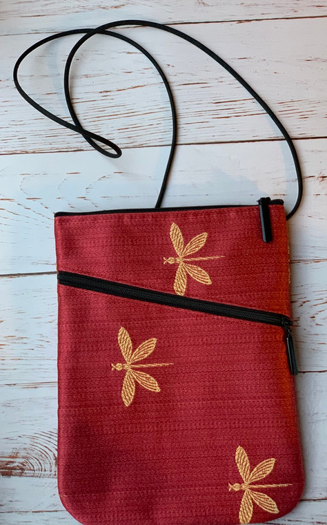 Social Bag in Red Dragonfly