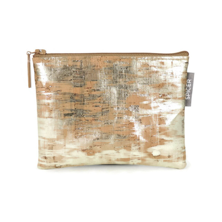 All-Purpose Pouch in Brushed Gold Cork