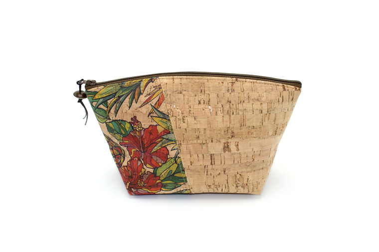 Standing Pouch in Natural Cork and Pineapple Pattern Cork