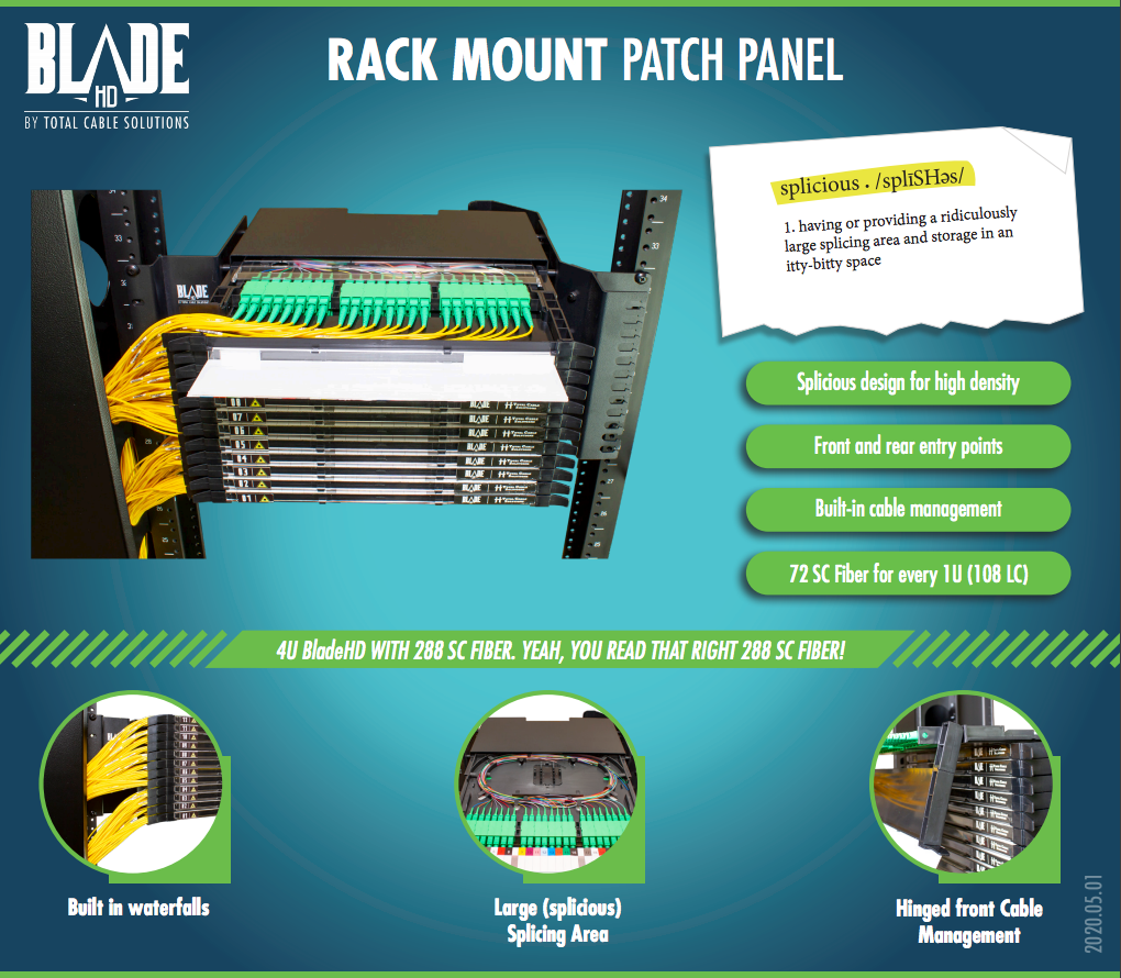 BladeHD Rack Mount Fiber Patch Panel