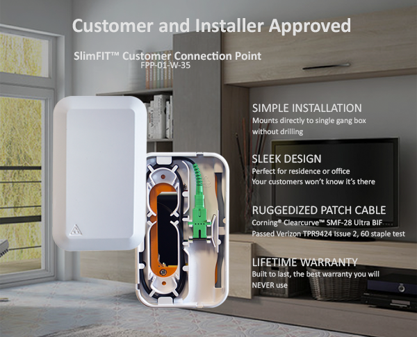 FTTH ONT access point - SlimFIT Customer Connection Point