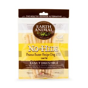Earth Animal No Hide Dog Stix Peanut Butter 45G 10Pk