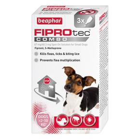 Beaphar Fiprotec Combo 3 Pippet Small Dog