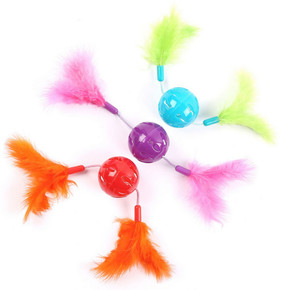 H/Pet Feather Twizzler 3Pk