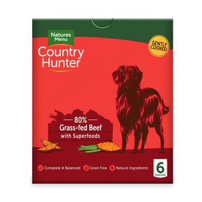 Natures Menu Country Hunter Dog Pouch Beef 150g 6pk