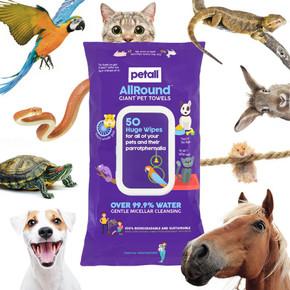 Petell Giant Pet Wipes 50Pk