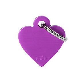 Small Heart Purple ID Tag