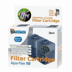 SuperFish Aqua-Flow 100 Crystal Clear Cartridge (2Pk)