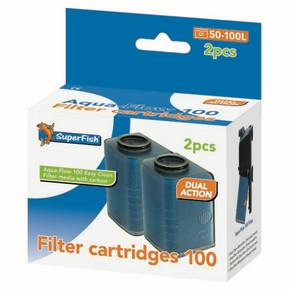 SuperFish Aqua-Flow 100 Easy Click Cartridge (2Pk)