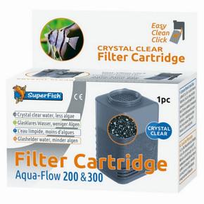 SuperFish Aqua-Flow 200/300 Crystal Clear Cartridge (1Pk)