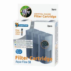 SuperFish Aqua-Flow 50 Crystal Clear Cartridge (3Pk)