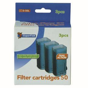 SuperFish Aqua-Flow 50 Easy Click Cartridge (3Pk)