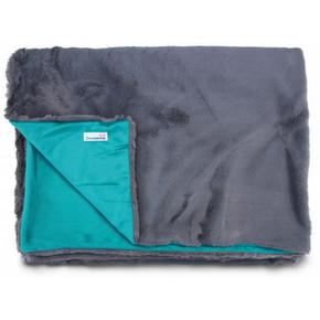 Doodlebone Fur Blanket Slate and Teal