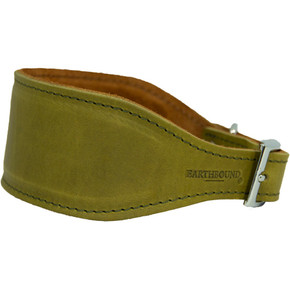 Earthbound Leather Whippet Collar Green