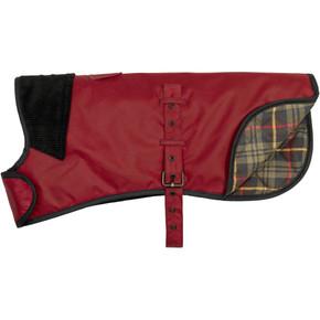 Earthbound Premium Wax Cotton Dog Coat Red