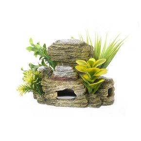 Rosewood Rocky Cave With Plants