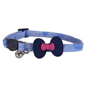 Designer Denim Navy Bow Collar