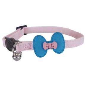 Designer Pink & Teal Bow Collar