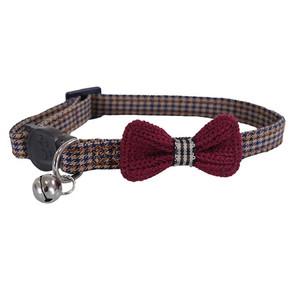 Designer Burgundy Bow Collar