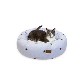 Joules Bee Ticking Donut Bed