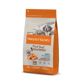 Natures Variety Meat Boost Dry Dog Food Salmon & Tuna 1.5kg