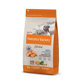 Natures Variety Mini Adult Freeze Dried Dog Food Norwegian Salmon 1.5kg