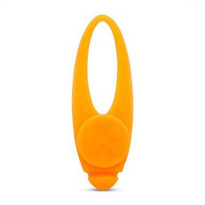 Flashing Safety Clip Silicone Blinker Orange