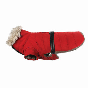 Happy Pet Sherpa Coat Cranberry